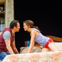 Flor de Liz Perez with Ricardo Chavira at the National Theater