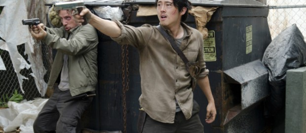 Characters Nicholas (RIP) and Glenn (???) from AMC's The Walking Dead