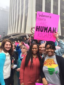 Marchers at the Women's March in Raleigh, NC